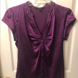 Purple button up blouse | Express